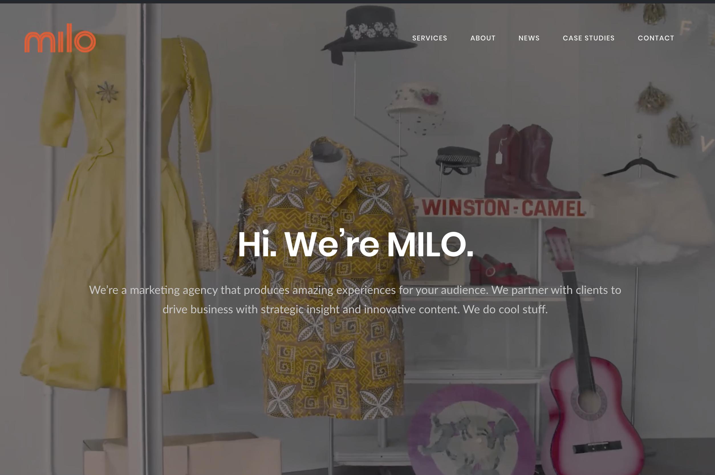 hi we're milo